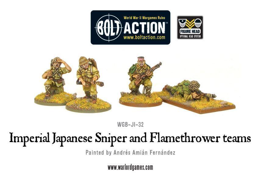 Japanese Sniper and Flamethrower Teams