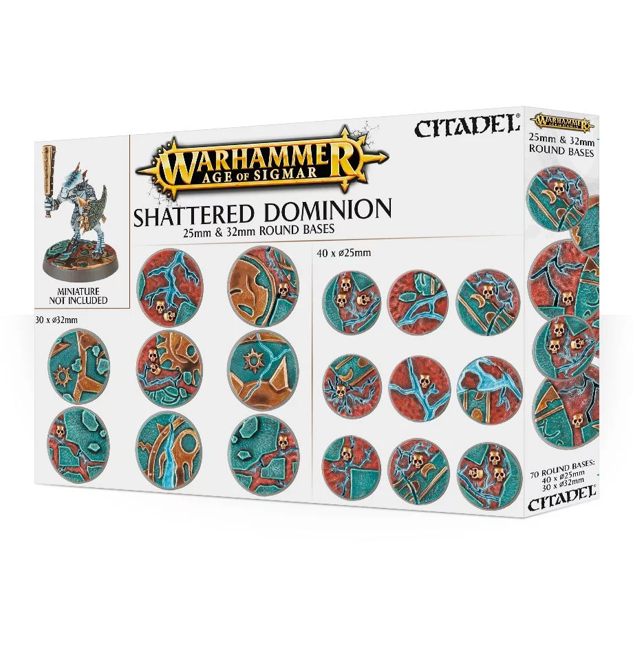 25mm & 32mm Round Bases, Shattered Dominion
