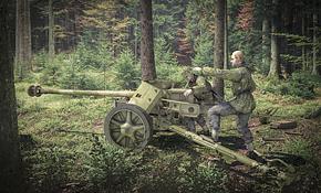 PaK 40 AT Gun with Crew, Rubicon Models