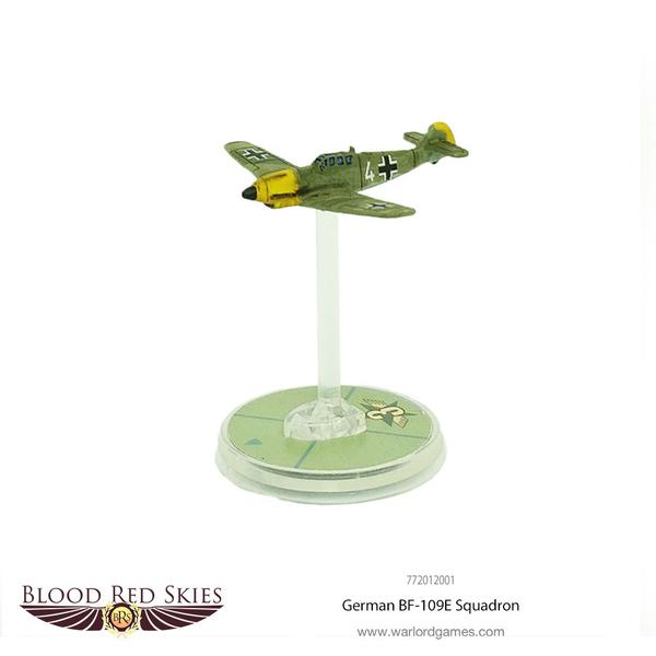 German BF109 6 Plane Squadron, Blood Red Skies