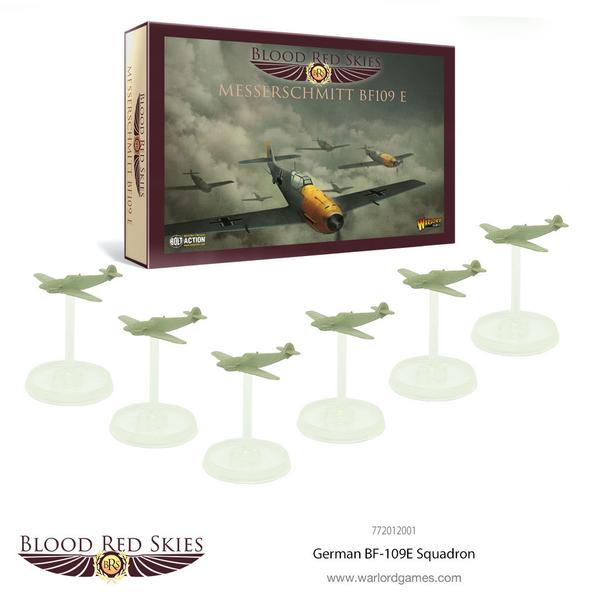 German BF109 6 Plane Squadron, Blood Red Skies