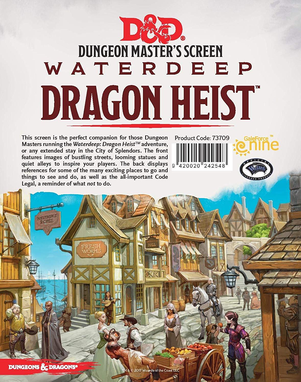 Waterdeep Dragon Heist DM Screen