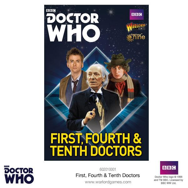 First, Fourth & Tenth Doctors