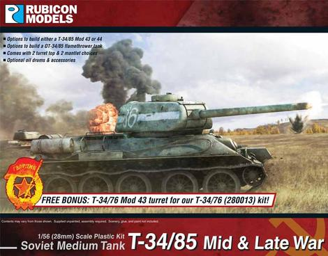 T-34/85 – Mid & Late War, Rubicon Models