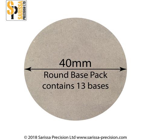 40mm Round Bases, Sarissa Precision
