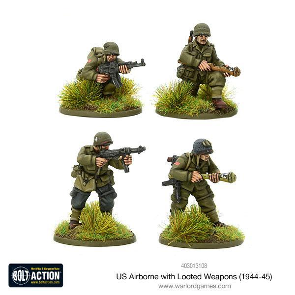 US Airborne with Looted German Weapons
