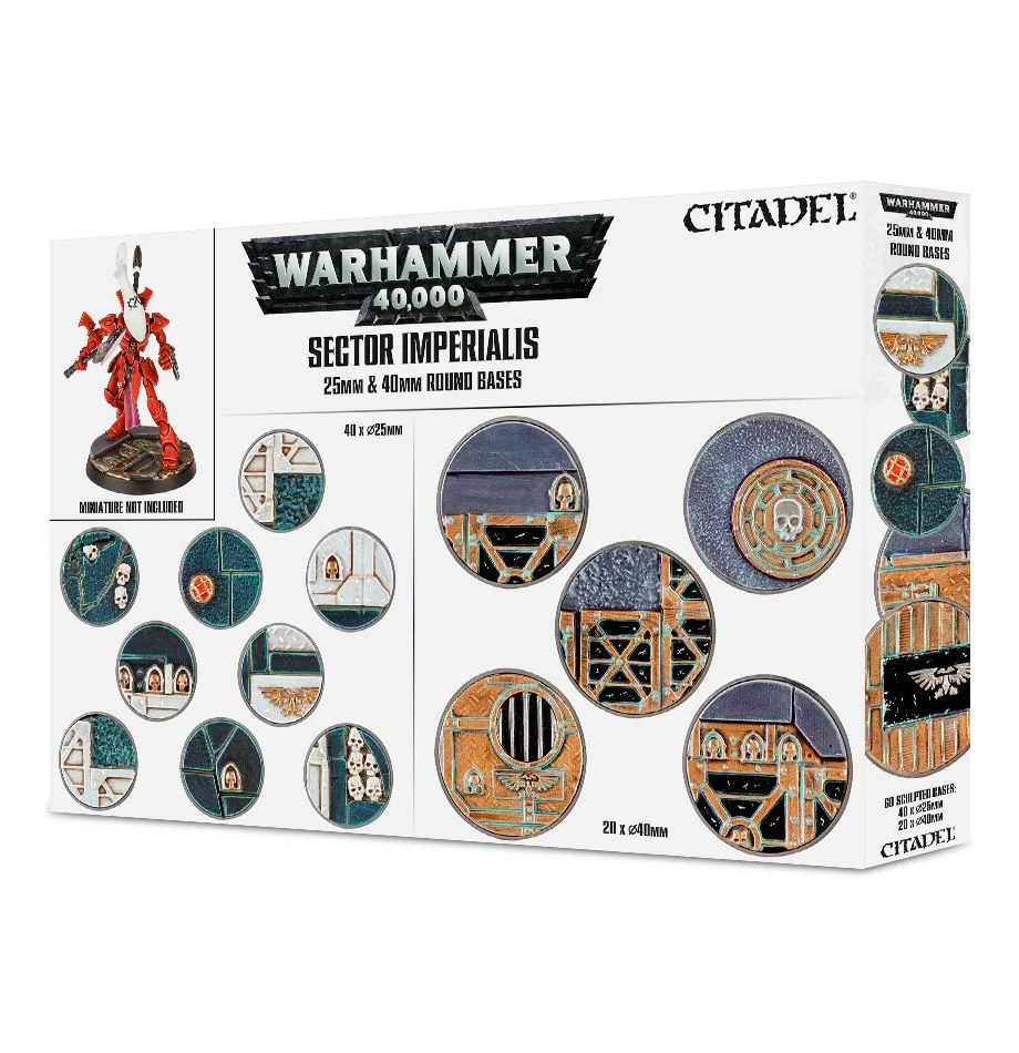 25mm & 40mm Round Bases, Sector Imperialis
