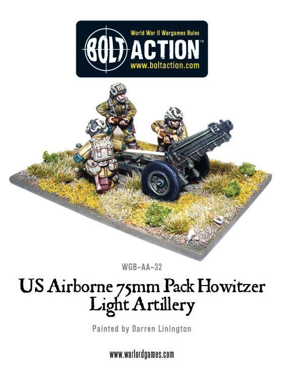 US Airborne 75mm Pack Howitzer Light Artillery