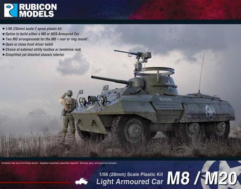 M8 Greyhound / M20 Scout Car, Rubicon Models