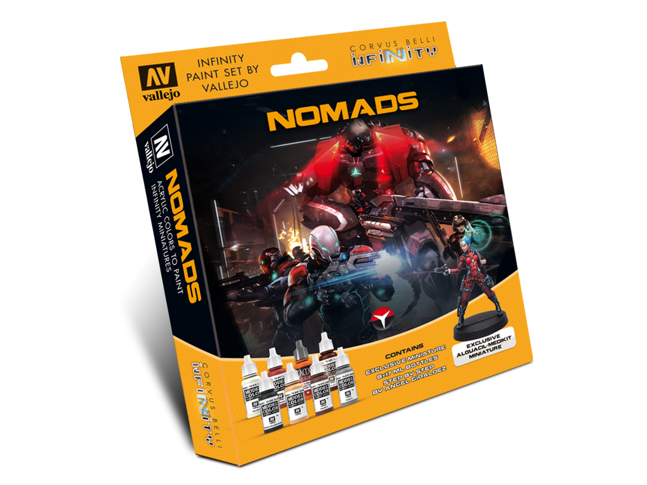 Infinity Nomads Model Color Set - includes Exclusive Miniature