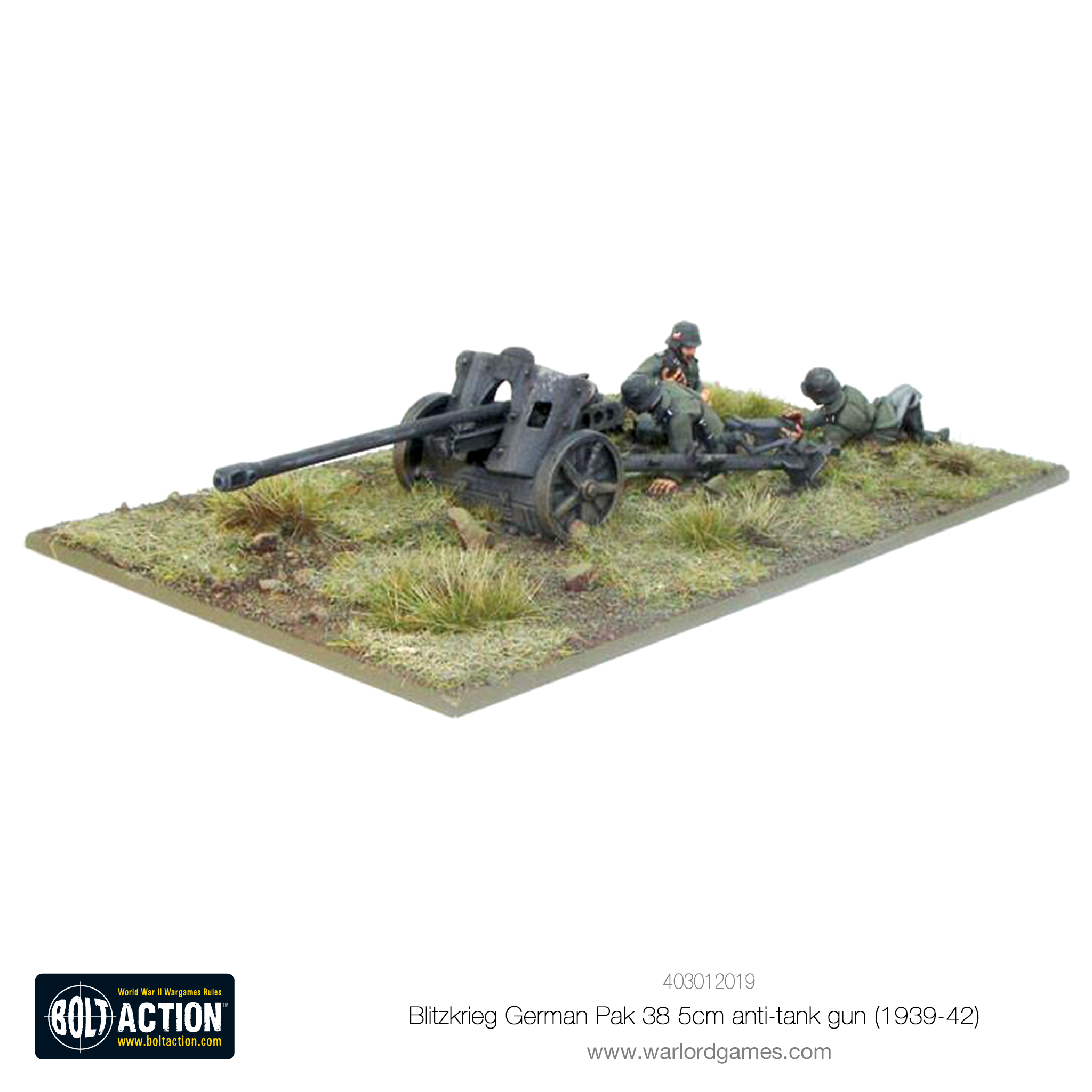 Blitzkrieg German Pak 38 5cm Anti-Tank Gun (1941-42)