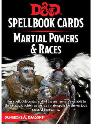 Martial Powers & Races Spellbook Cards