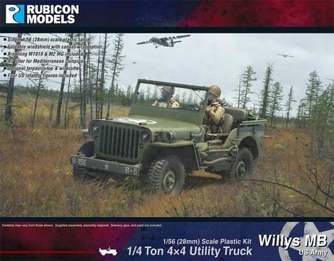 Willys MB ¼ ton 4x4 Truck (US Standard), Rubicon Models