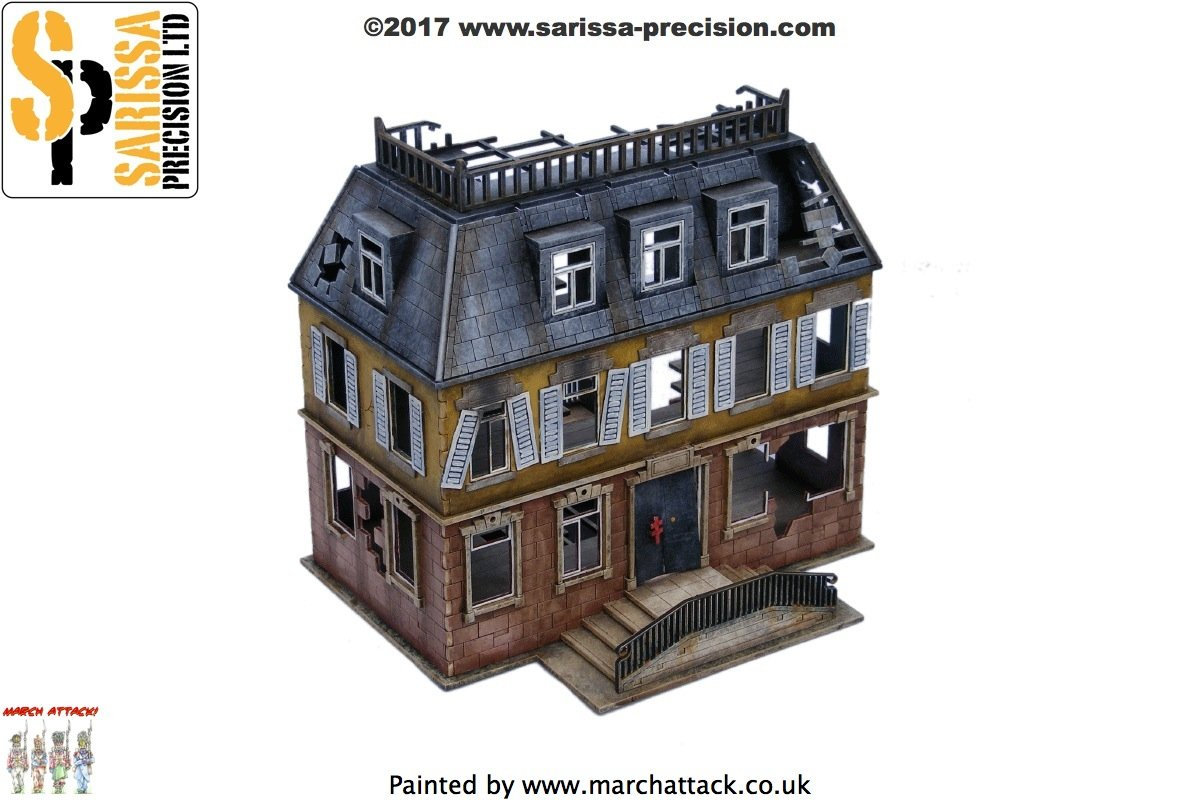 Destroyed Chateau 28mm, Sarissa Precision