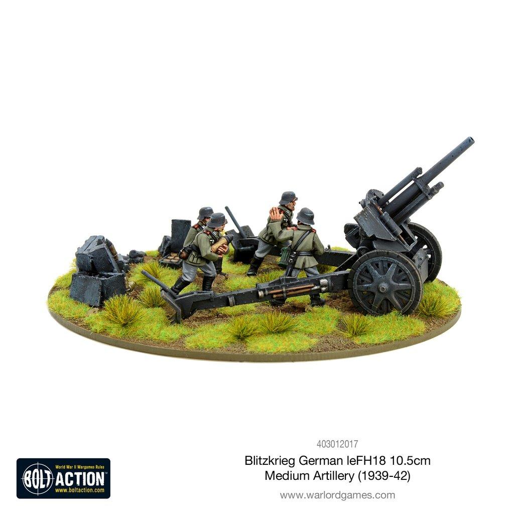 Blitzkrieg German leFH 18 10.5cm Medium Artillery (1939-42)
