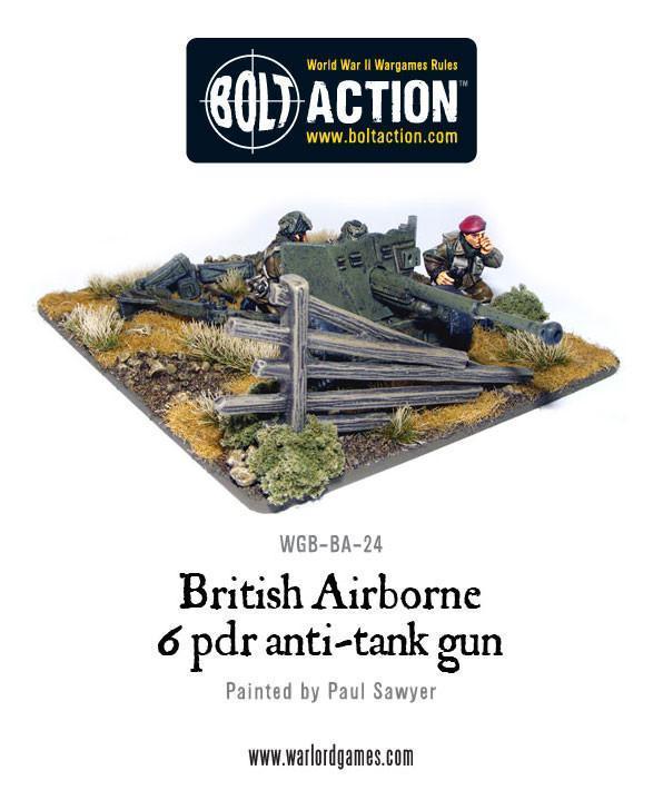 British Airborne Six Pounder AT Gun