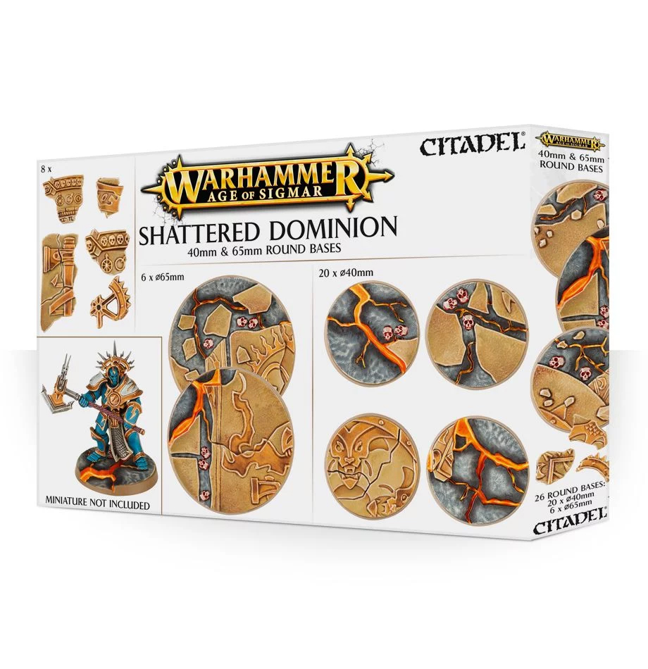 65mm & 40mm Round Bases, Shattered Dominion