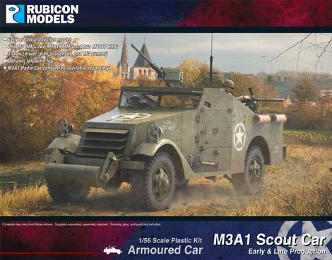 M3A1 Scout Car (Early & Late production), Rubicon Models