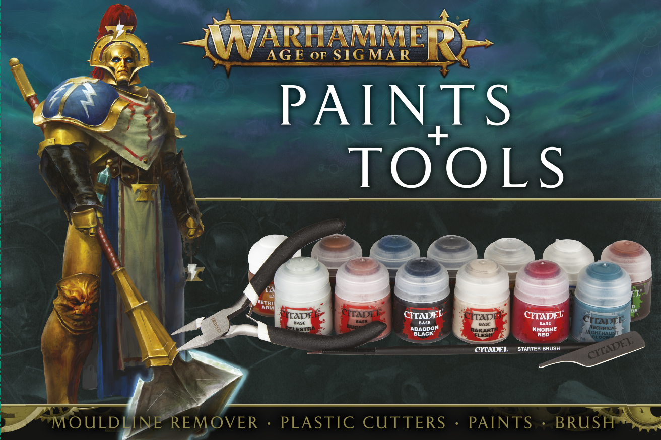 Paints and Tools Set Age of Sigmar