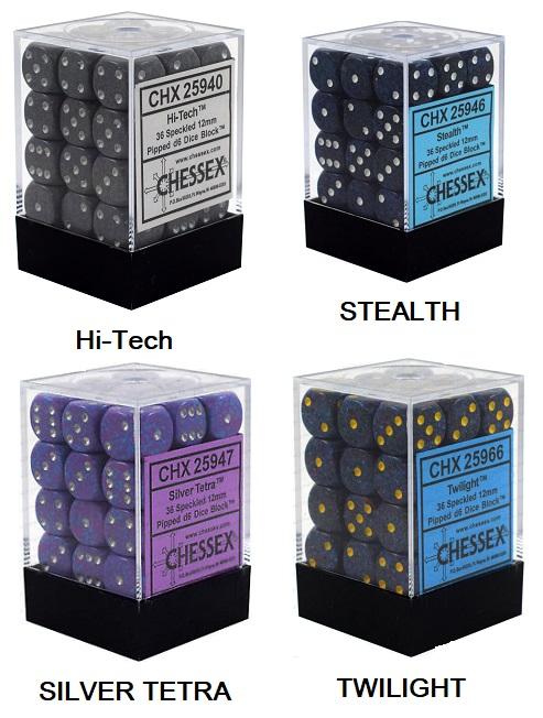Speckled D6 Set of 36