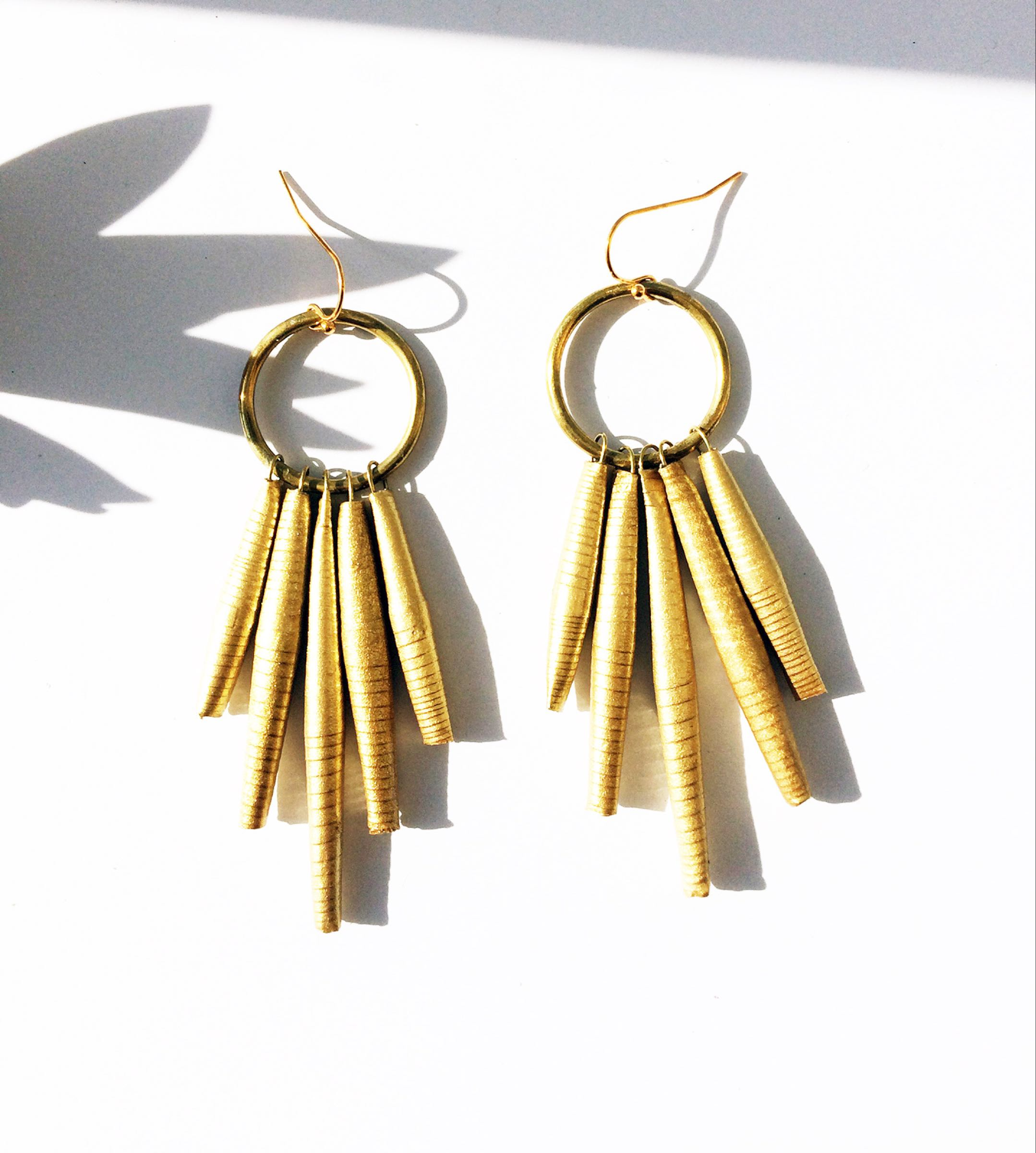 Circle Gold Drop Earring