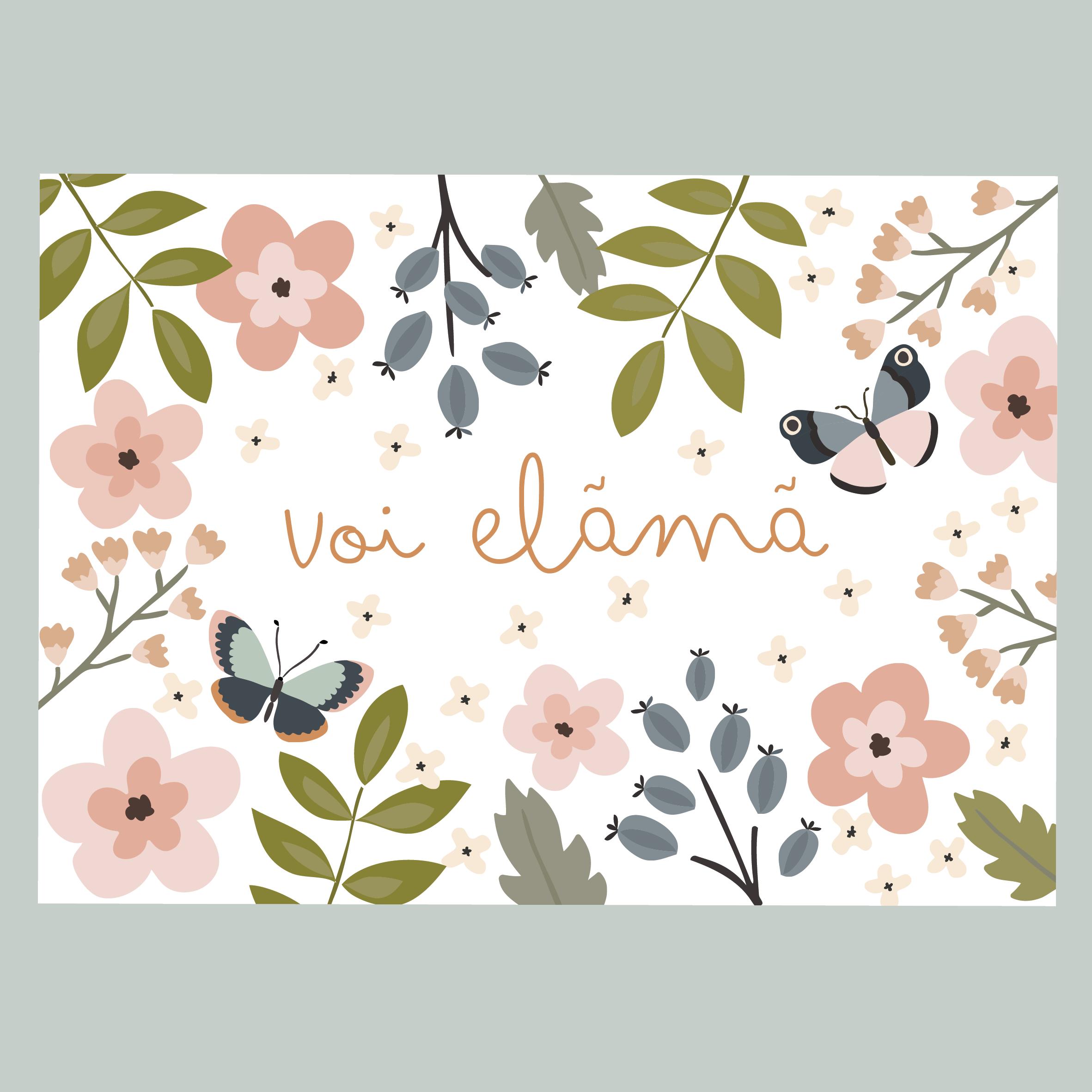 Voi Elämä- postikortti
