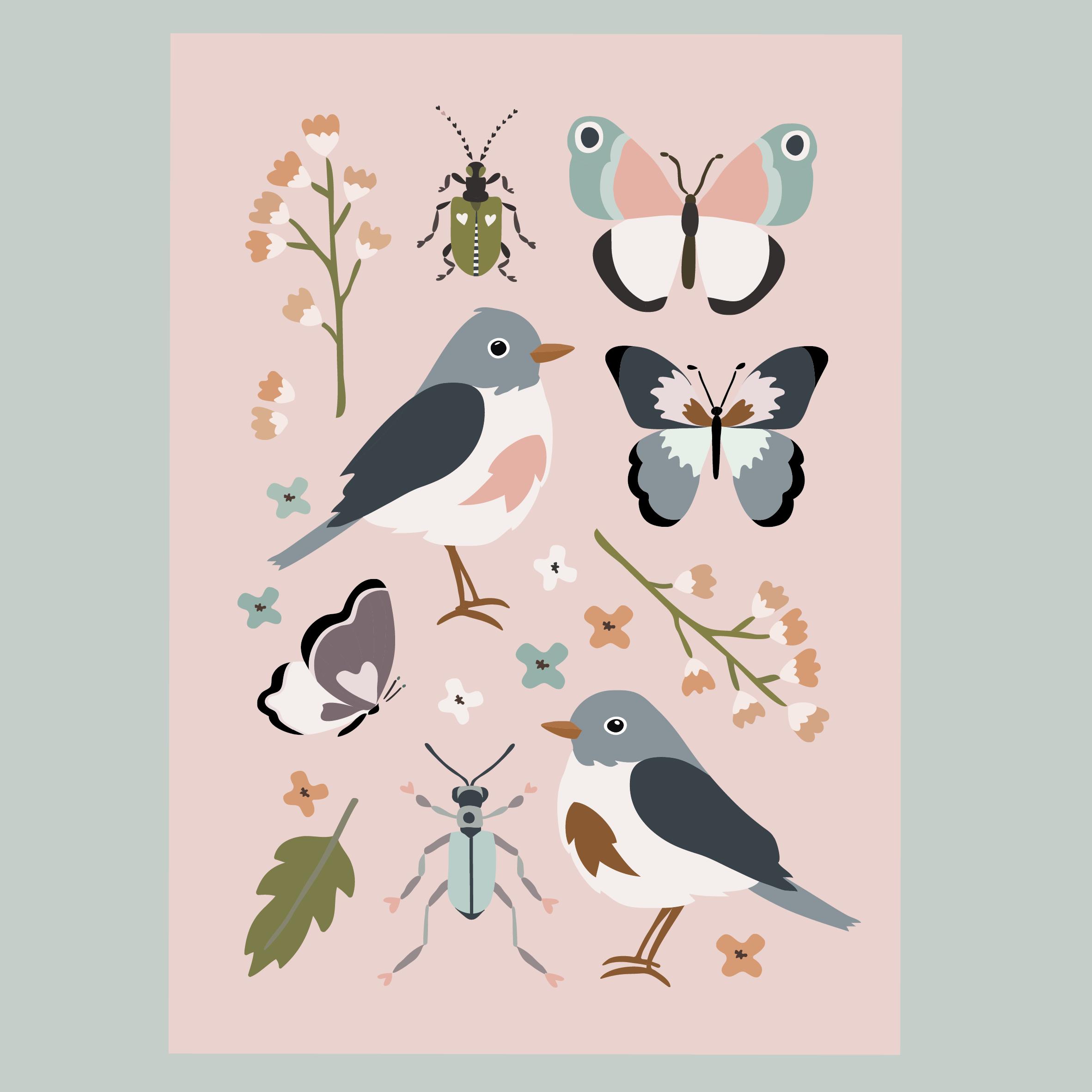 Keväthuumaa postikortti