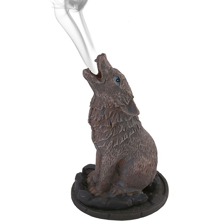 Wolf Incense Cone Holder