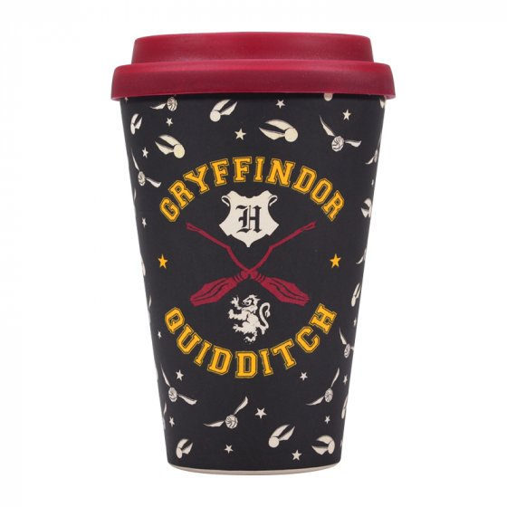 Gryffindor Quidditch - Harry Potter Travel Mug (Bamboo)