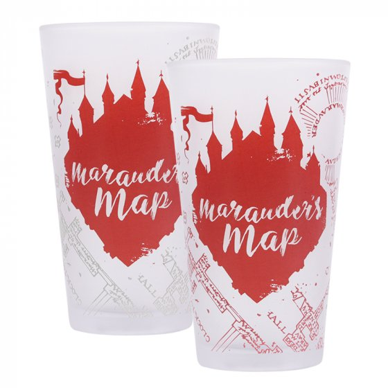 Marauders Map Glass