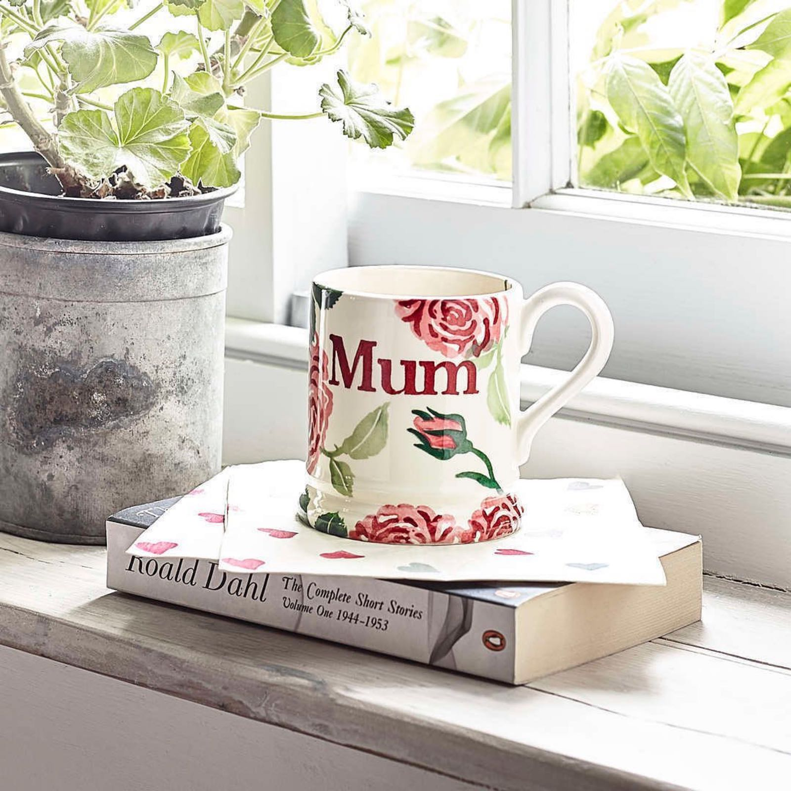Emma Bridgewater Pink Roses 1/2 Pint Mum Mug Boxed