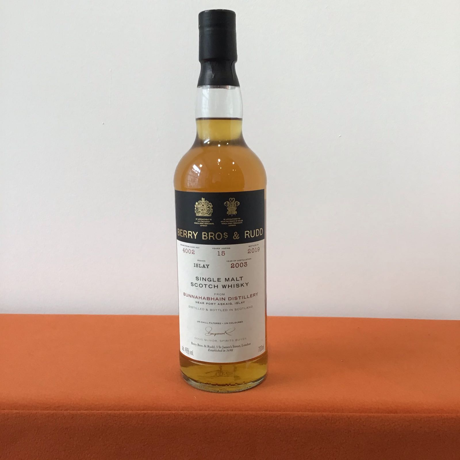 Berry Bros & Rudd: Bunnahabhain 15 Year Old Single Cask (#4002)