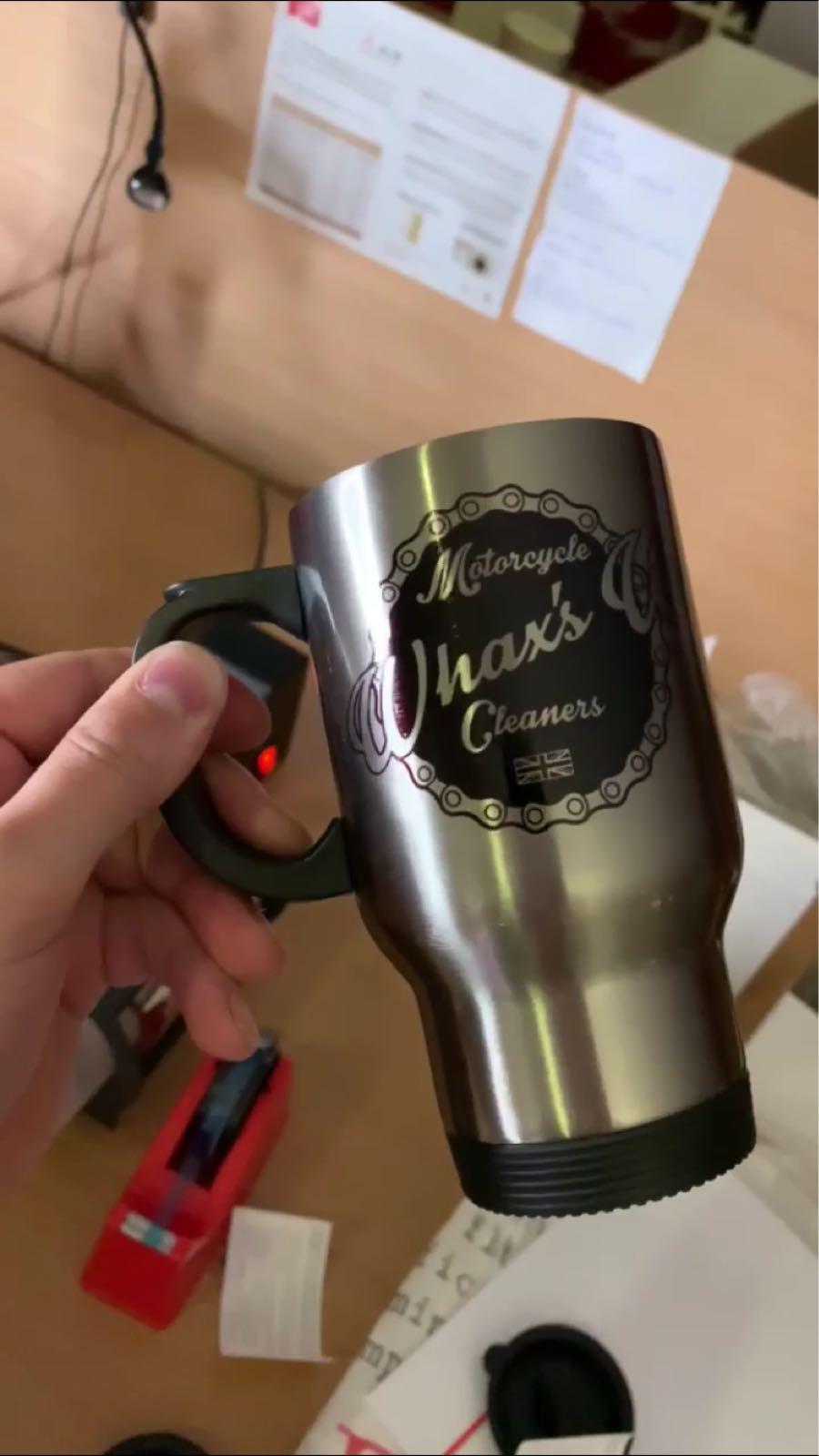 Whaxs Up Printed Travel Mug