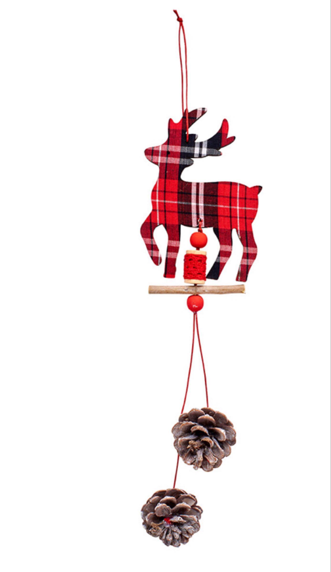Tartan deer cone hanger