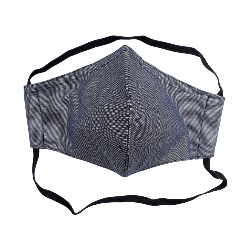 Adult Face Mask - Blue (elastic round back of head)