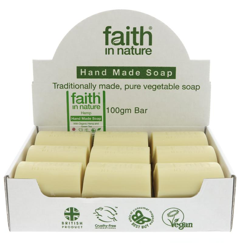 Hemp & Green Tea Bar Soap - Faith in Nature