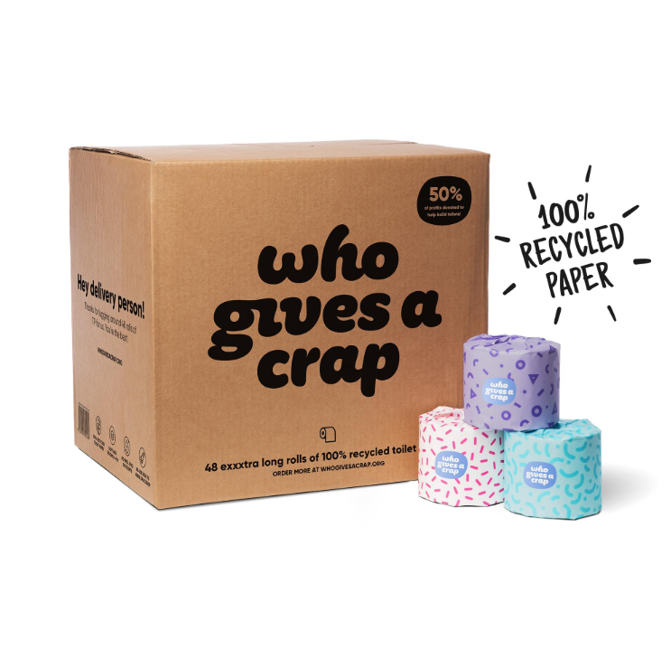 WGAC box of 48 rolls Recycled Toilet Paper