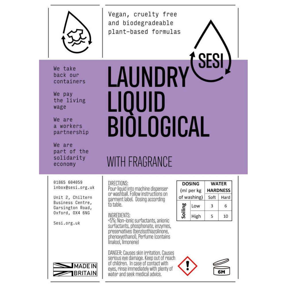 Donate Biological Laundry Liquid - 1L
