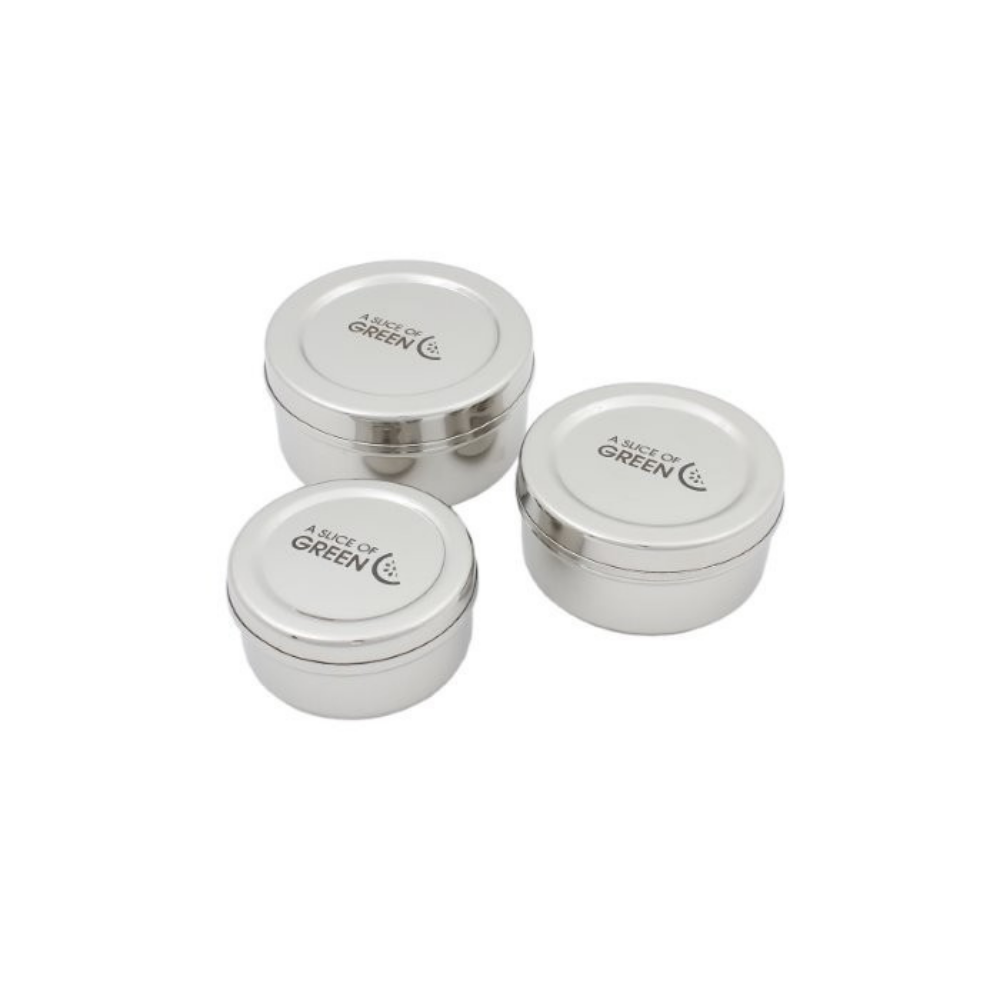 3 Set Stainless Steel Snack Pots