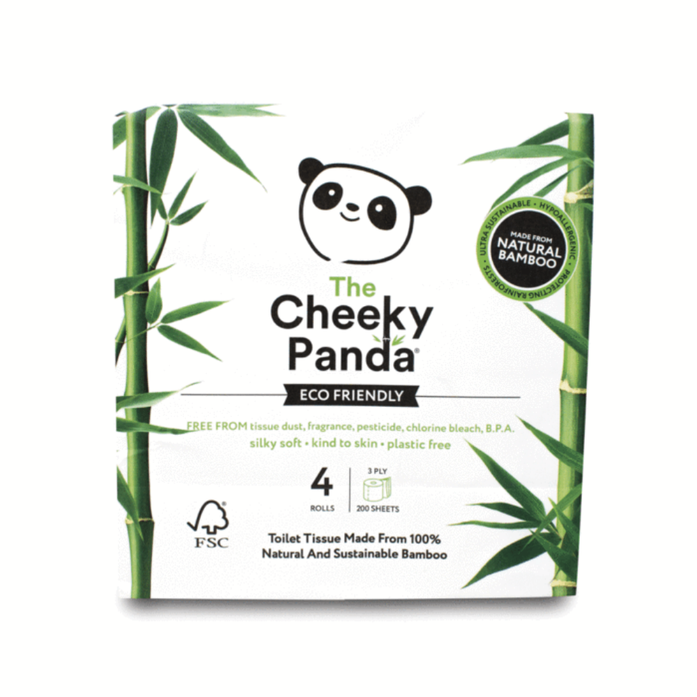 Cheeky Panda 4 Pack Bamboo Toilet Roll