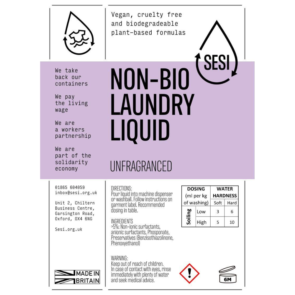 Donate Non-Bio Laundry Liquid - 1L