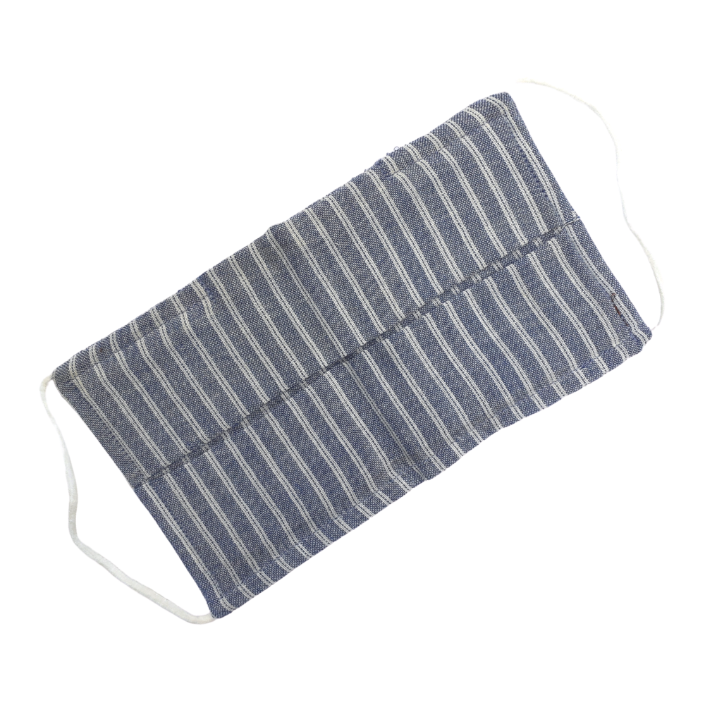 Adult Face Mask - Blue and White Stripe