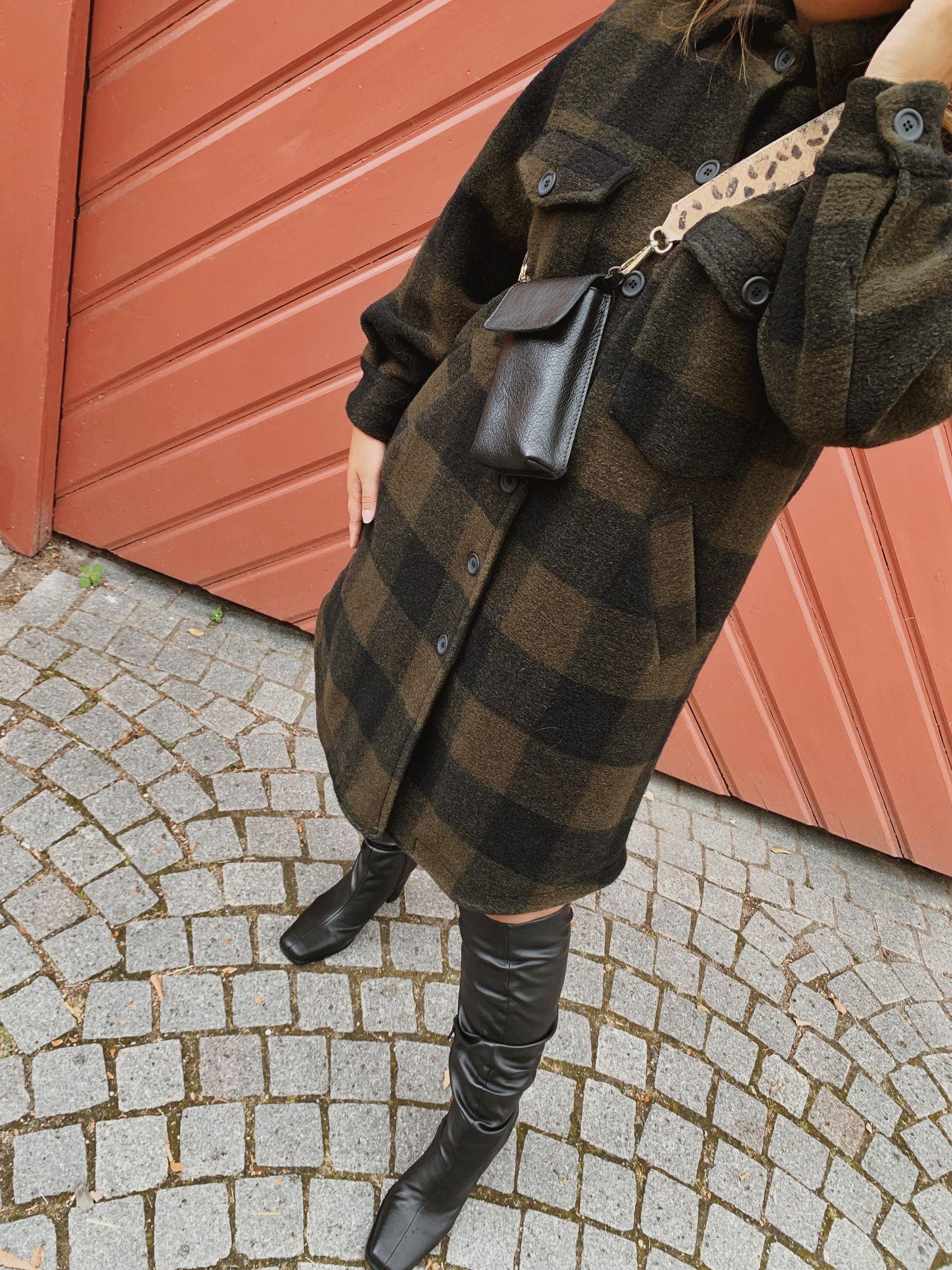 Tiffany Valley coat checked army and black