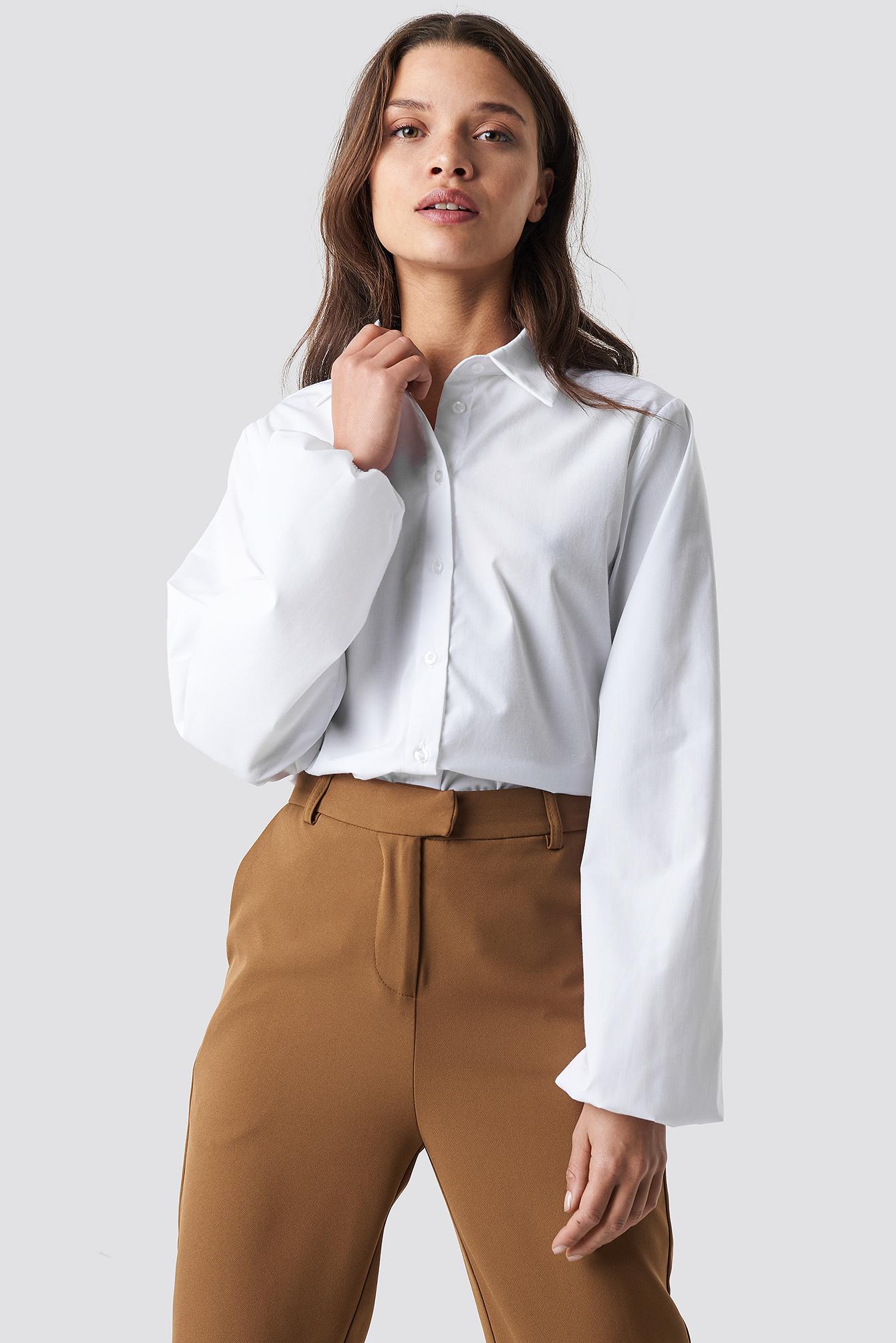 Balloon sleeve shirt vit