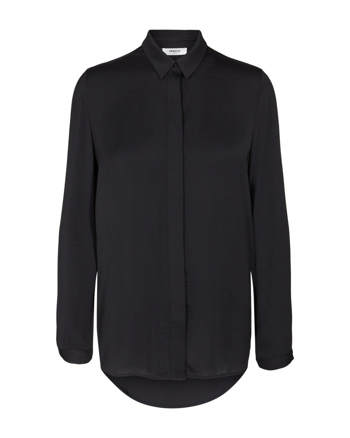 MSCH Blair polysilk shirt svart