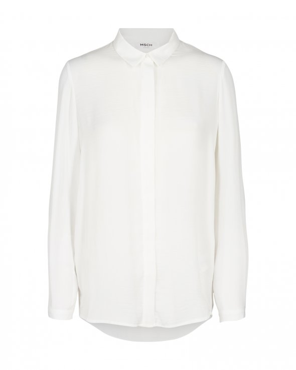 MSCH Blair polysilk shirt vit