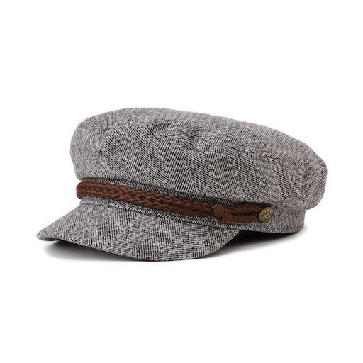 Brixton Fiddler Cap Heater Grey/Cream