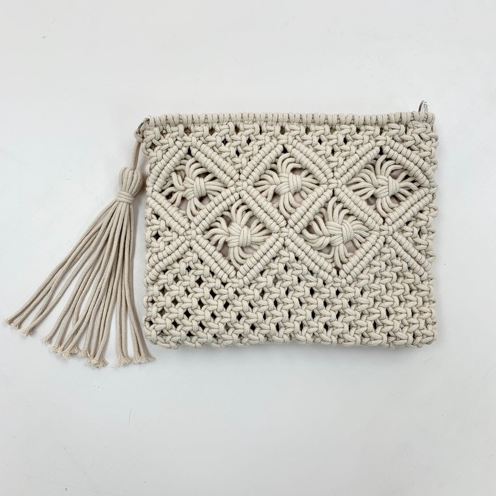 Braided Clutch with Removable Strap