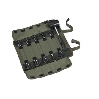 M-BIPESET Peg set + hammer  10 + 1 pcs