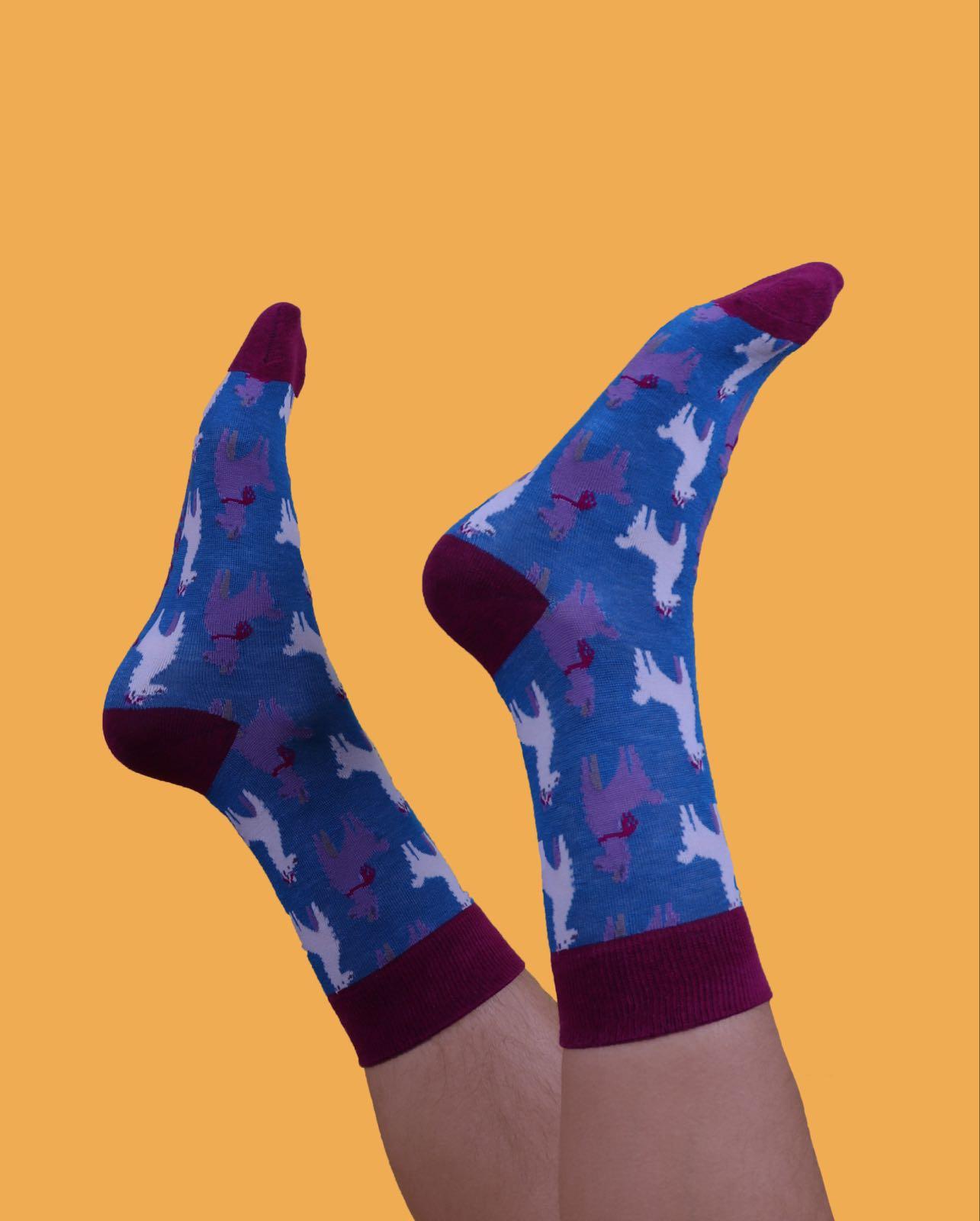 Powder Gentleman's llama socks size 9-11